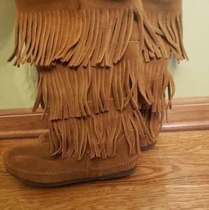 Fringe Boots Camel Color